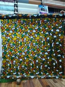 Glass paper and decorative sheets