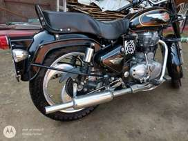 Royal Enfield Bullet with fully loaded accessories.