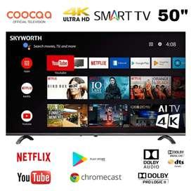 "TERMURAH! COOCAA UHD 4K SMART TV 50"" NEFLIX 50N3S DOLBY AUDIO"