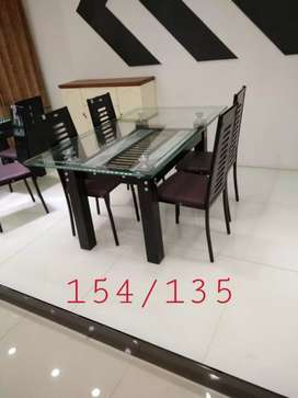 New glass dining table