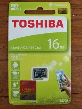 Memory HP MMC MicroSD Toshiba 16gb