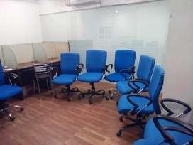 Blue colour 14 office chair