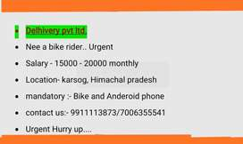 Need a bike rider (DELIVERY BOY)