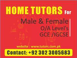 Home Tutors required for private tuitions by class of  Teacher at home