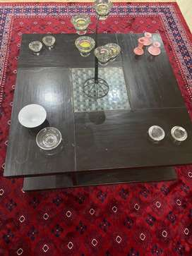 Full 3 tables set made in pure sheeham wood that was purchased by us