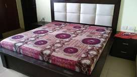 King Size Double Bed along with mattress