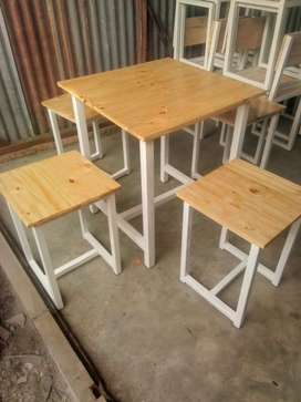Meja Kursi Cafe/Resto Set