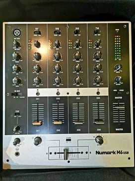 Brand New Numark M6 USB DJ Mixer with Free Gator Bag