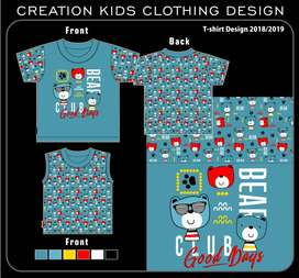 Kids and Mens T shirt Design