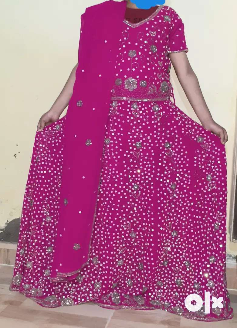 Fashionable party wear lahnga with blouse and dupatta