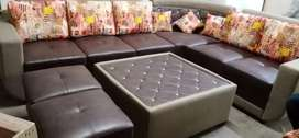 Brand new L-shaped sofa set