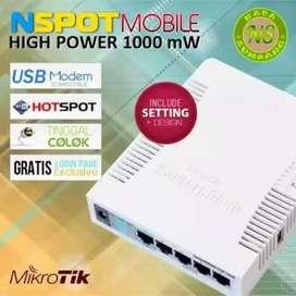 Paket mikrotik rb 951ui-2hnd untuk hotspot rt rw net murahtinggalcolok