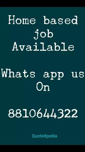 Opening for part time home based jobs