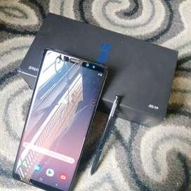 Samsung note 8 black 6/64 like new resmi sein