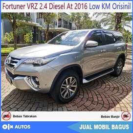 Fortuner VRZ 2.4 Diesel At 2016 Low KM Orisinil Bisa Kredit