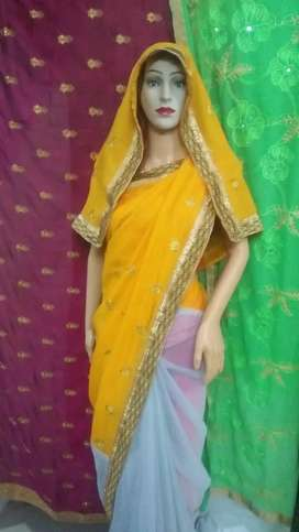 Buy 500/- only half half Saree