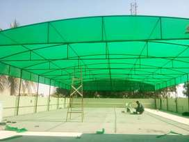 Green house fibre shade safety wire green net razor wire railing parda