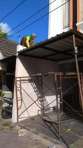 Genti atap kanopi, servis&pasang baru