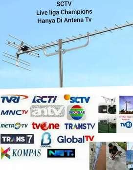 mari bapak ibu kita pasang antena tv yagi U-19 digital