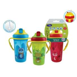 BABYSAFE CUP WITH WEIGHTED STRAW 300ML botol tempat minum anak