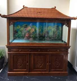 Aquarium minimalis full jati