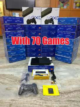 Sony Playstation 2 (Ps2) With 70 Games Good Condition Box Peice