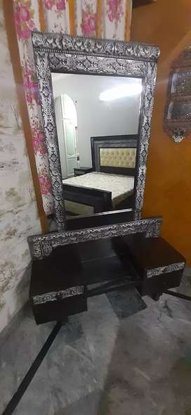 Double Bed 2 side tables along with dressing table