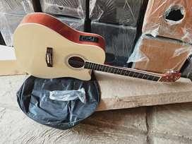 Gitar akustik elektrik gitar jumbo coal natural