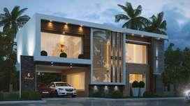 4 BHK, 3050 Sq.ft luxury villas in thrissur for sale
