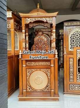 Mimbar masjid doof full kayu jati J567 kode
