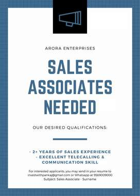 Sales Associates with good telecalling and communication skills