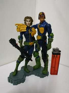 Action Figure Judge dreed and fartner plus stand Rare murah