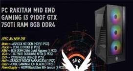 PC RAKITAN GAMING EDITING I5 9400F   GTX 750Ti   SSD 120GB   8GB RAM