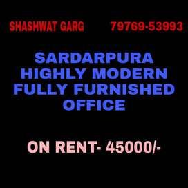 Sardarpura Highly Modern Fully Furnished Office
