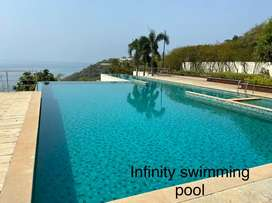 Spacious 2bhk semi furnished apartment in good complex at Donapaula