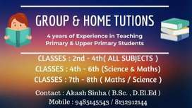 Home Tutions for Primary & Upper Primary Students.
