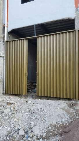 Folding gate rolling door model harmonika bagus di tangerang