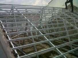 rangka atap baja ringan murah terpasang
