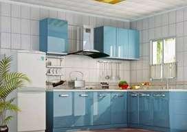 Kitchen set Partisi penyekat ruangan backdrop Tempat tidur Dipan VD