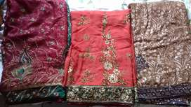 sale of fancy party wear sari only serious buyers