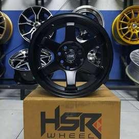 Velg Mobil HSR Tokyo Ring 14 Warna Black