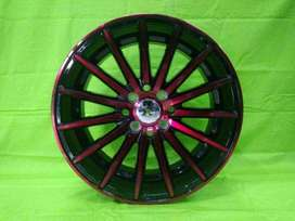 TSUKUBA 560 HSR R16X7 H8X100-114,3 ET40 BK-RED