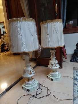 Lampu duduk enamel antik Italy