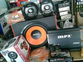 Plus Pasang,Subwoofer MRZ+Power MRZ+Speaker Pioneer+Tweeter+Box+Kabel""