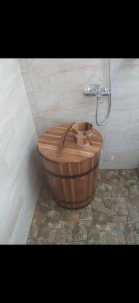 Bak mandi kayu jati jawa