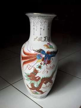 Vas bunga keramik barang lawas