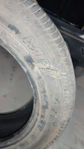 NEW MRF 205/60 R16 tyre ... Few km driven .