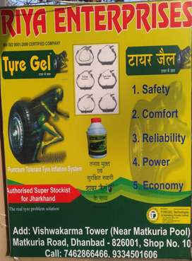 Tyre gel for 2,3,and 4 wheelers