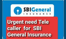 URGENT NEED TELECALLER FOR SBI GENERAL INSURANCE POLICY