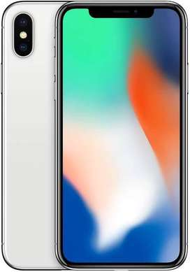 iphone X 64gb silver scratchless